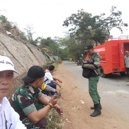 Pemenuhan Kebutuhan Air oleh BPBD  di Desa Bumiwangi